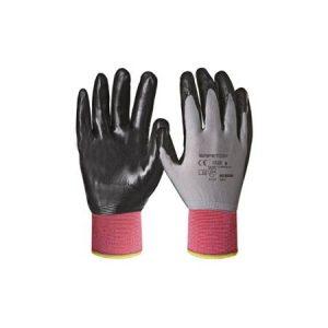 comprar guantes nitrilo dorso tela 3/4 para trabjar
