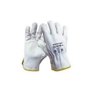 comprar guante piel blanco para trabjar